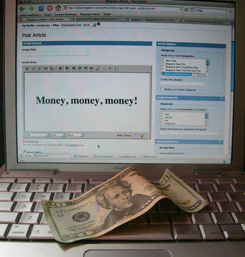 money and blogs