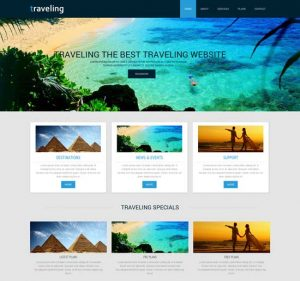 travel-guide-mobile-website-template